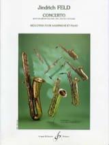 Concerto Jindrich Feld Partition Saxophone - laflutedepan