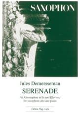 Sérénade Jules Demersseman Partition Saxophone - laflutedepan.com