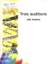 3 Auditions Jacques Toulon Partition Trombone - laflutedepan.com