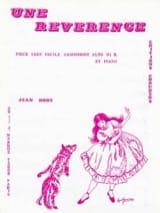Jean Hody - Une Révérence - Partition - di-arezzo.fr