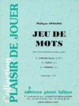 Jeu de Mots Philippe Oprandi Partition Trombone - laflutedepan.com
