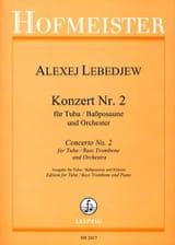 Alexej Lebedjew - Konzert N° 2 - Partition - di-arezzo.fr