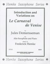 Le Carnaval de Venise Jules Demersseman Partition laflutedepan.com
