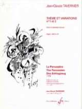 Jean-Claude Tavernier - Theme And Variations N ° 1 And 2 - Sheet Music - di-arezzo.co.uk