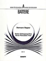 Hermann Regner - Seven Percussion Trios - Partition - di-arezzo.fr