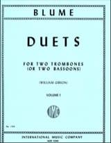 Duets Volume 1 - O. Blume - Partition - Trombone - laflutedepan.com