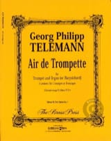 Air de Trompette - Georg Ph Telemann - Partition - laflutedepan.com