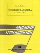 Concerto Da Camera Maurice Faillenot Partition laflutedepan.com