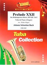 Prélude XXII BACH Partition Tuba - laflutedepan