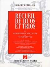 Recueil de Duos Et Trios Robert Letellier Partition laflutedepan