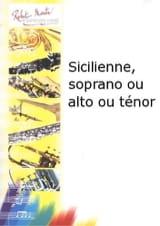 Sicilienne Pierre Bigot Partition Saxophone - laflutedepan.com
