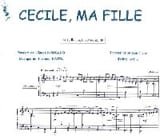 Claude Nougaro - Cecile, My Girl - Sheet Music - di-arezzo.co.uk
