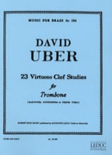 David Uber - 23 Virtuoso Clef Studies - Partition - di-arezzo.fr