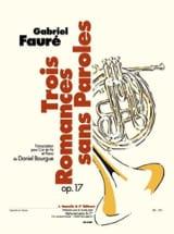 Trois Romances Sans Paroles Opus 17 Gabriel Fauré laflutedepan.com
