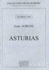 Asturias - Isaac Albeniz - Partition - Saxophone - laflutedepan.com