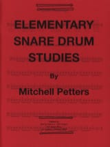 Mitchell Peters - Elementary Snare Drum Studies - Partition - di-arezzo.fr