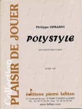 Philippe Oprandi - Polystyle - Partition - di-arezzo.fr