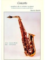 Concerto Maurice Bardin Partition Saxophone - laflutedepan
