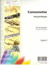 Canzonetta Pascal Proust Partition Cor - laflutedepan.com