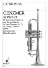 Harald Genzmer - Konzert - Partition - di-arezzo.fr