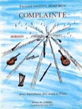 Complainte - Montbrun Raymond Gallois - Partition - laflutedepan.com