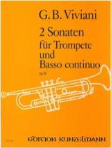 2 Sonates Giovanni Bonaventura Viviani Partition laflutedepan.com
