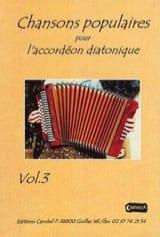 Chansons Populaires Volume 3 Partition Accordéon - laflutedepan.com
