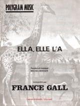 Ella, Elle L' A France Gall Partition Chanson française - laflutedepan