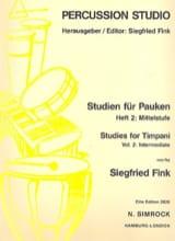 Siegfried Fink - Studies For Timpani Volume 2 Intermediate - Sheet Music - di-arezzo.co.uk