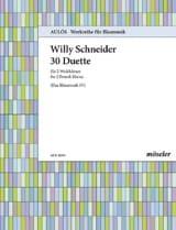 30 Duette Willy Schneider Partition Cor - laflutedepan