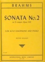 Johannes Brahms - Sonate N° 2 En Mib Majeur Opus 120 - Partition - di-arezzo.fr