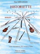 Historiette Paul Méranger Partition Saxophone - laflutedepan.com