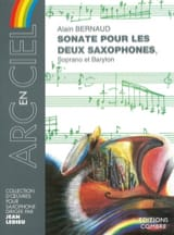 Sonate Pour les Deux Saxophones Alain Bernaud laflutedepan.com