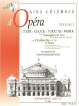 Airs Célèbres D' Opéra Volume 1 Partition Saxophone - laflutedepan