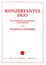 Harald Genzmer - Konzertantes Duo - Partition - di-arezzo.fr