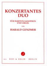 Konzertantes Duo Harald Genzmer Partition Saxophone - laflutedepan.com