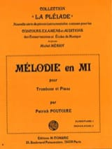 Patrick Poutoire - Mélodie En Mi - Partition - di-arezzo.fr