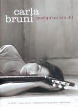 Quelqu'un M'a Dit - Carla Bruni - Partition - laflutedepan.com