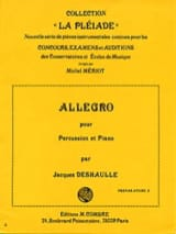 Jacques Deshaulle - Allegro - Partition - di-arezzo.fr