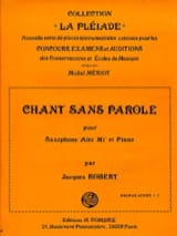 Jacques Robert - Chant Sans Parole - Partition - di-arezzo.fr