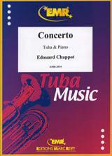 Concerto Edouard Chappot Partition Tuba - laflutedepan