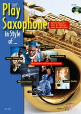 Play Saxophone In Style Of... Harald Heine Partition laflutedepan.com