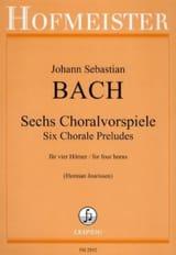 Sechs Choralvorspiele BACH Partition Cor - laflutedepan.com