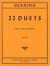 Carl Theodor Henning - 22 Duets - Sheet Music - di-arezzo.com