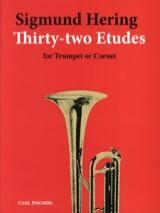 32 Etudes For Trumpet Sigmund Hering Partition laflutedepan.com