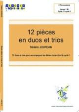 12 Pièces En Duos Trios Frédéric Jourdan Partition laflutedepan.com