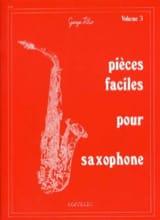 Pièces Faciles Pour Saxophone Volume 3 - laflutedepan.com