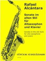 Sonate Im Alten Stil Rafael Alcantara Partition laflutedepan