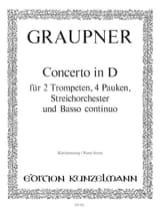 Concerto In D Christoph Graupner Partition laflutedepan.com