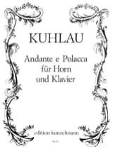 Andante E Polacca Friedrich Kuhlau Partition Cor - laflutedepan.com